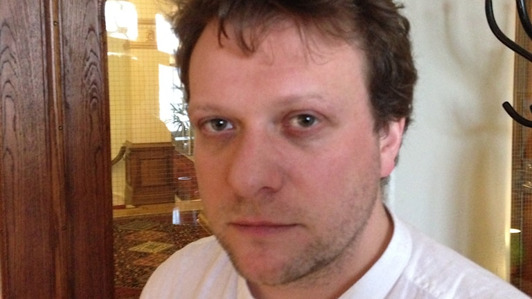 Brittiske journalisten Peter Pomerantsev. Foto: Fredrik Wadström/Sveriges Radio.