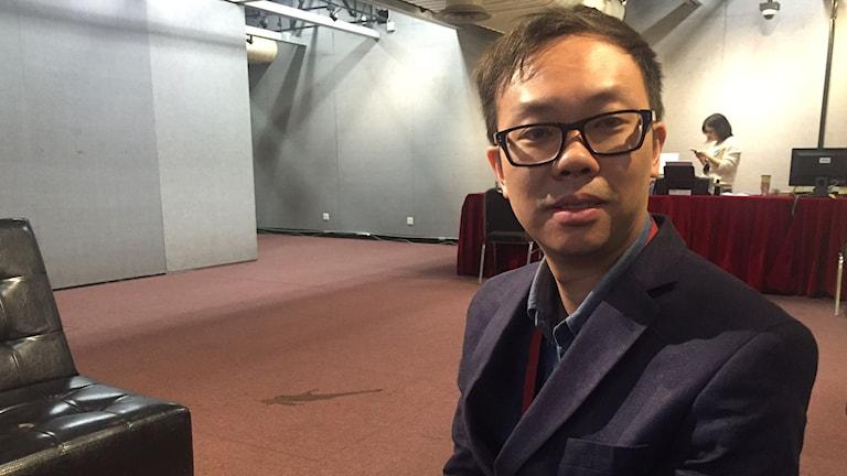Alvin Tse, programmanager för HKIFF,  Hongkong international film festival. Foto: Lisa Bergström/Sveriges Radio.