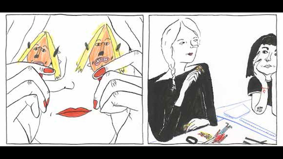 """Ruta från Ester Erikssons """"Det finns ingenstans att fly2."""