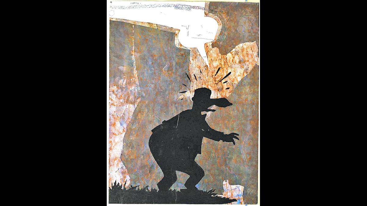 """Max Book: """"Trädgården"""" (1987) Olja på papper."""