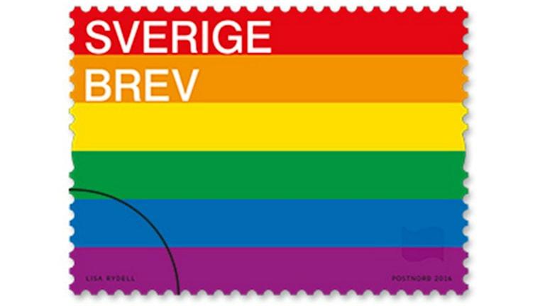 Det nya frimärket är formgivet av konstnären Lisa Rydell.