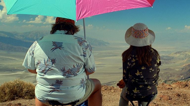 """Isabelle Huppert och Gérard Depardieu i """"Valley of love"""". Foto: Edge Entertainment."""