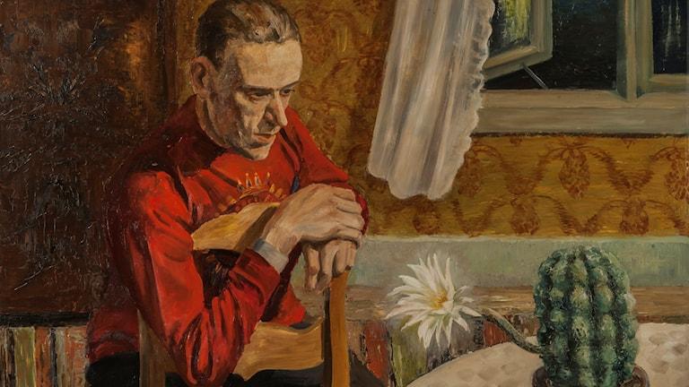 Gustaf Carlström: Kaktusen blommar, 1929. Foto: Hossein Sehatlou/Göteborgs konstmuseum