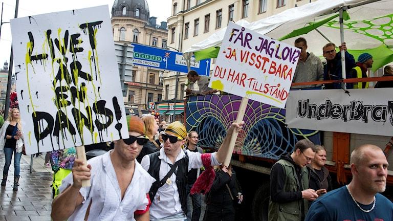 Protester mot danstillstånd 2012, nu kan kravet vara på väg bort.