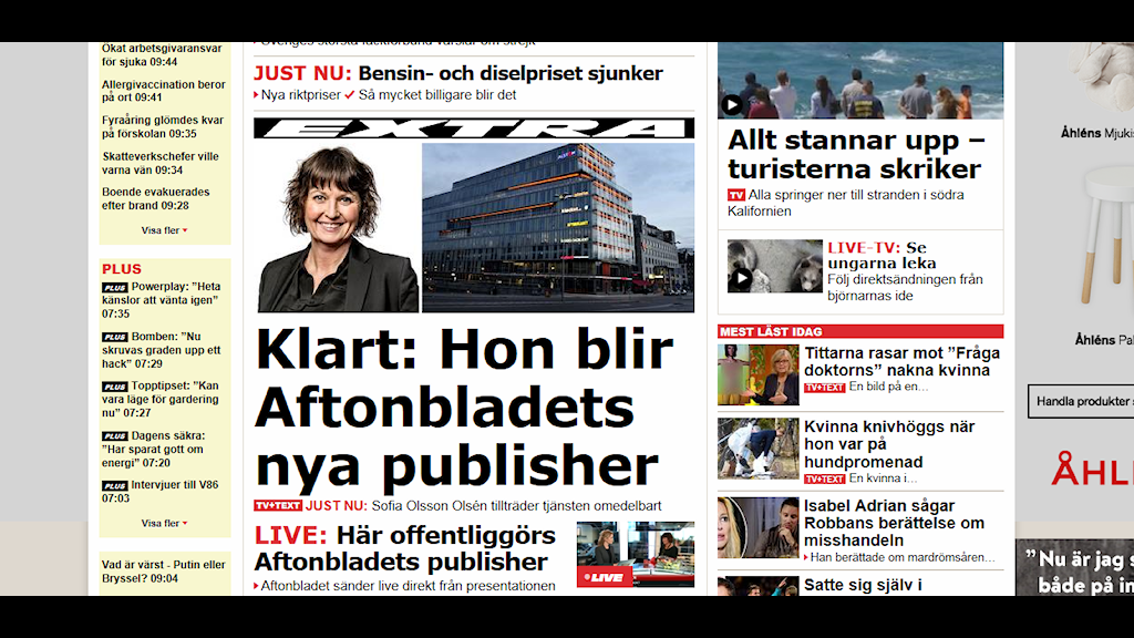 Aftonbladet.se skärmdump