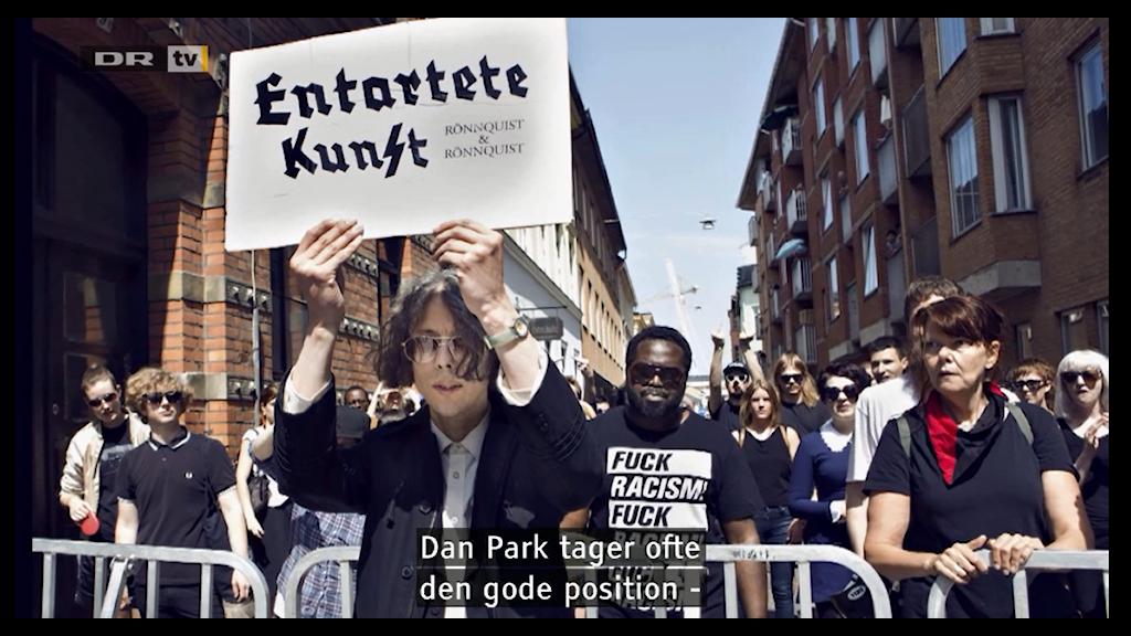 Scen ur DR-dokumentären om Dan Park. Foto: Skärmdump
