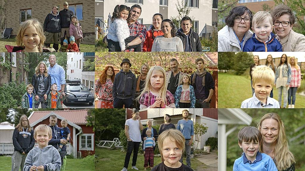 De nio familjerna i SVTs dokumentärserie Född 2010.