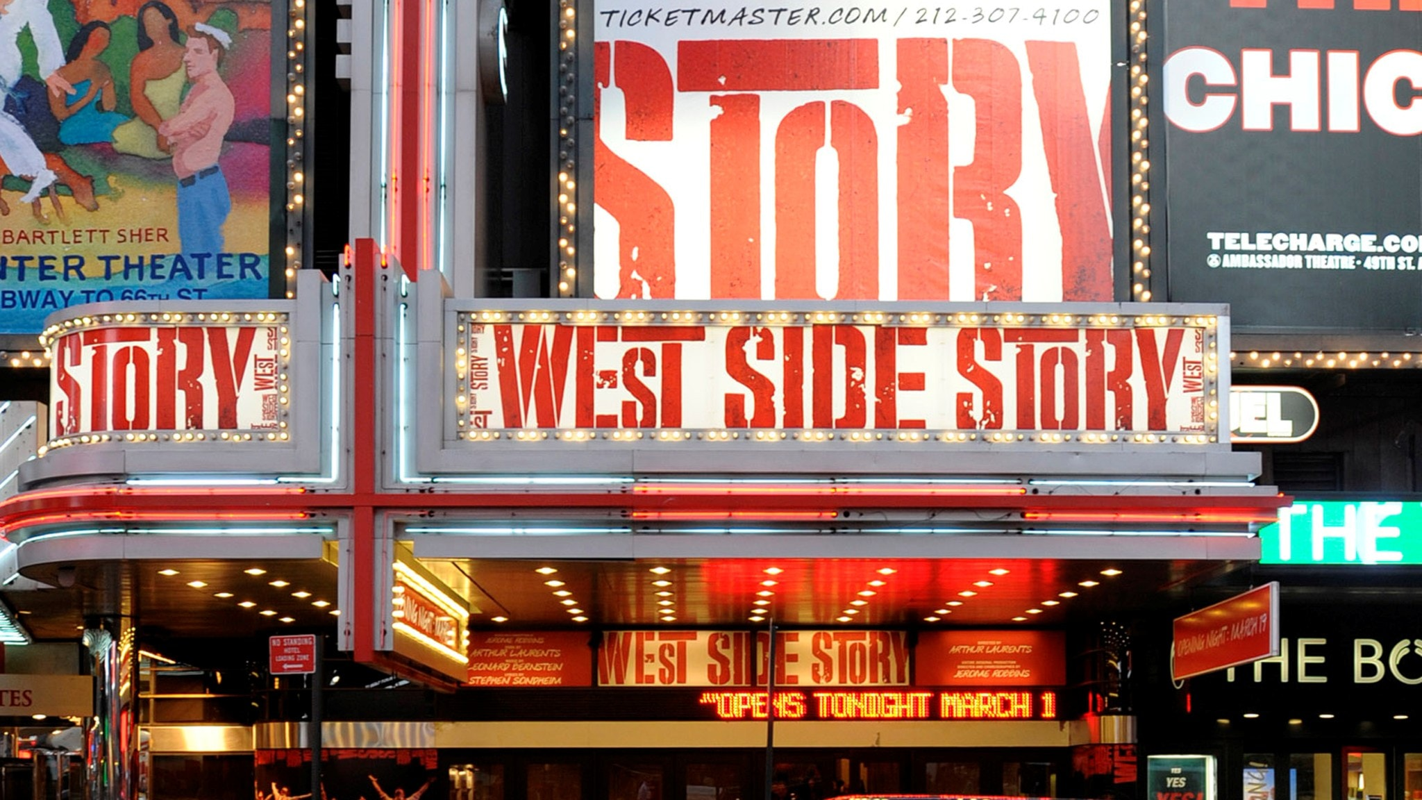 """Opening night of the Broadway musical """"West Side Story"""" at The Palace Theatre, in New York, on Thursday, March 19, 2009.  (AP Photo/Peter Kramer)"""