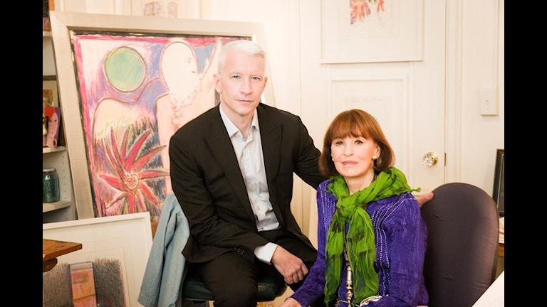 Son och mor, Anderson Cooper och Gloria Vanderbilt, i dokumentären Nothing left unsaid