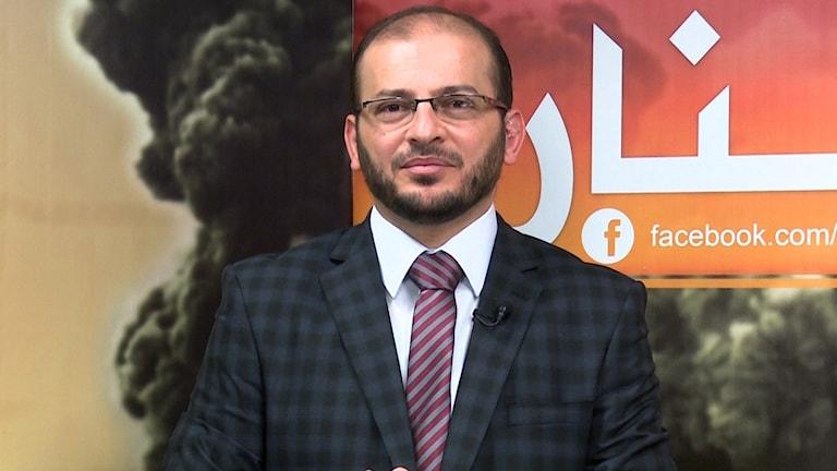 Journalisten Mohammed Zahir al-Sherqat. Foto: AP/TT.