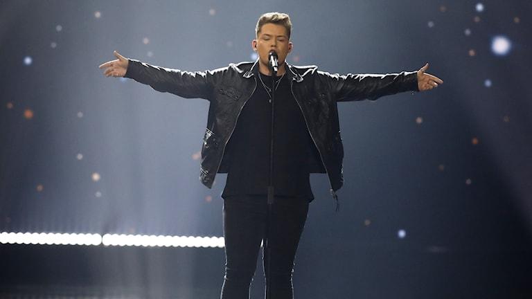 Brittiske Michael Rice kom sist i förra årets Eurovision.