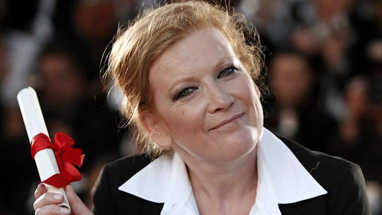 """Regissören Andrea Arnold tävlar om guldpalmen med """"American honey"""" i Cannes 2016."""