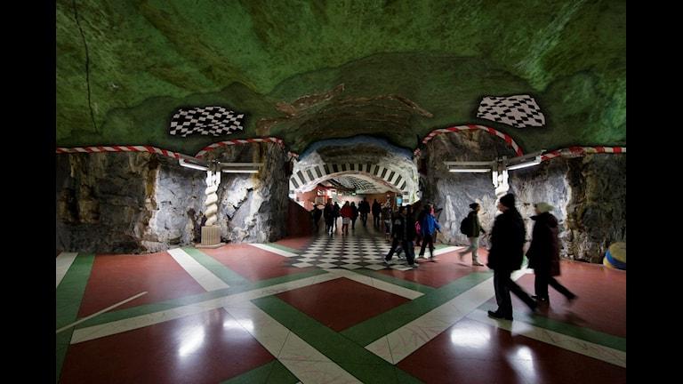 Konst i Stockholms tunnelbana.