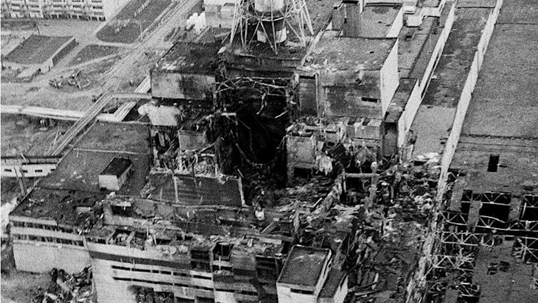 Kärnkraftverket i Tjernobyl.