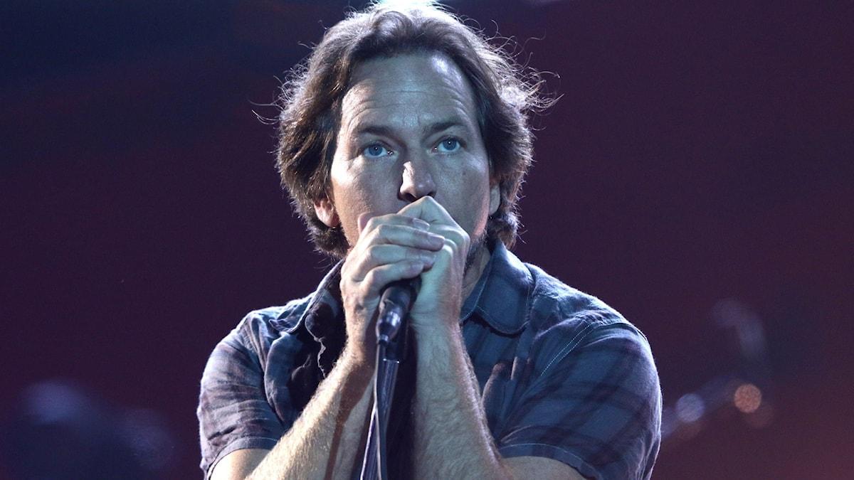 Sångaren Eddie Vedder i Pearl Jam.