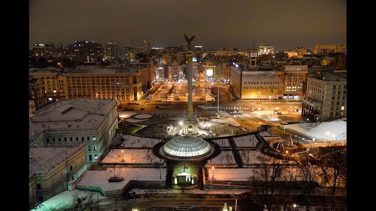Majdantorget i Kiev, Ukraina.