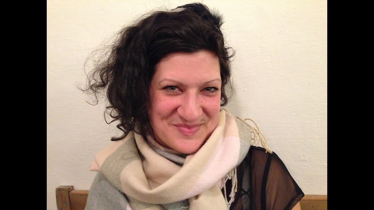 Konstnären Tamara Moyzes i Prag Foto: Fredrik Wadström