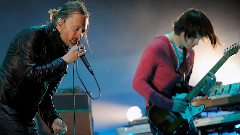 Thom Yorke och Jonny Greenwood.