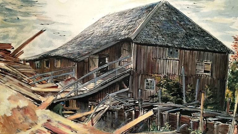 Målning av hus.