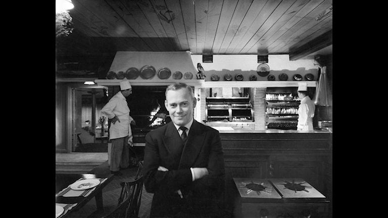 Tore Wretman på Stallmästargården 1958.