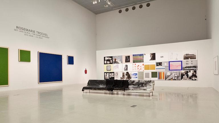 Rosemarie Trockel installationsvy Moderna Museet 2018