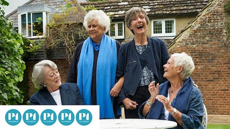 "Maggie Smith, Joan Plowright, Eileen  Atkins och Judi Dench i ""Nothing like a dame""."