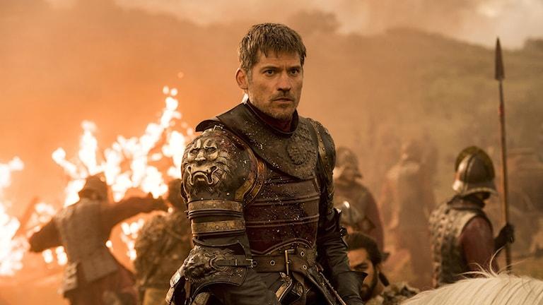 "Nikolaj Coster-Waldau som Jaime Lannister i en avsnitt av ""Game of Thrones,"" som sändes söndag 7 augusti."