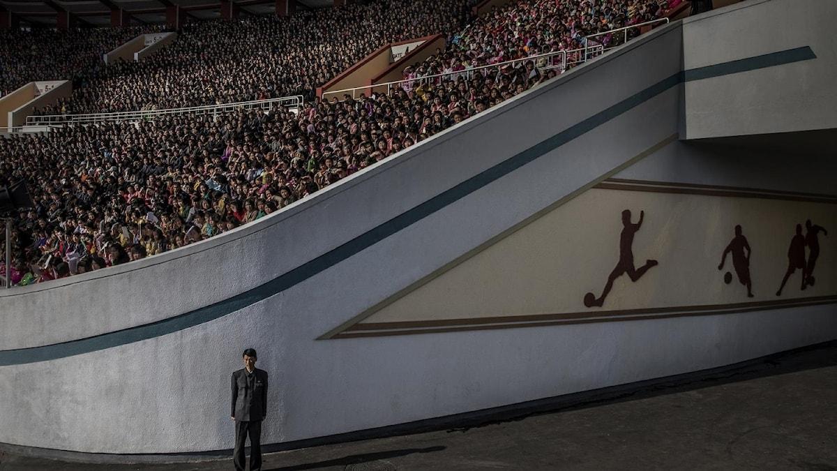 """Roger Turessons tävlar i kategorin """"Contemporary Issues"""" med en bild tagen i Nordkorea under Pyongyang Marathon."""