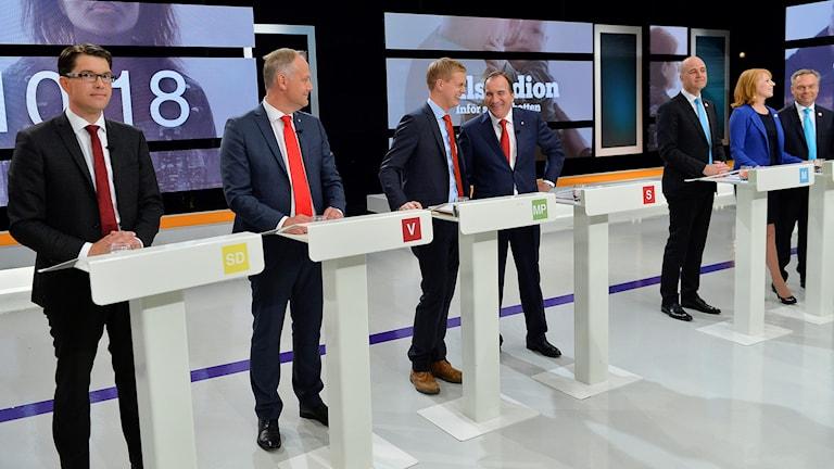 Slutdebatt i SVT 2014.