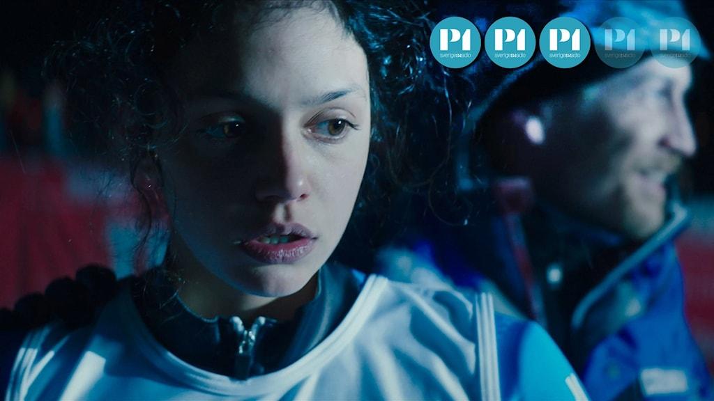 """Noée Abita gör Lys Lopez och Jérémie Renier hennes tränare i filmen """"Slalom""""."""