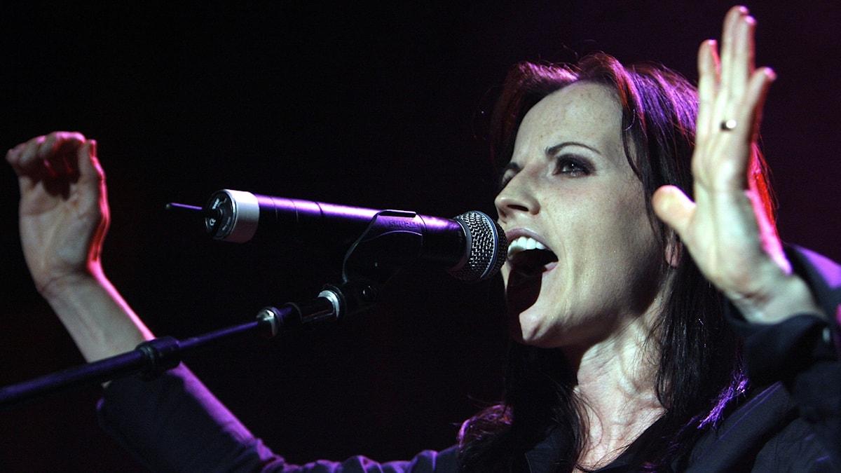 Dolores O'Riordan, sångerska i The Cranberries.