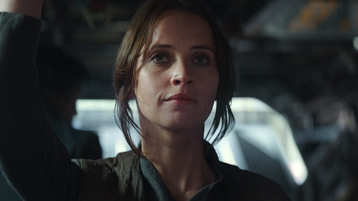 Felicity Jones i Rogue One: A Star Wars Story.