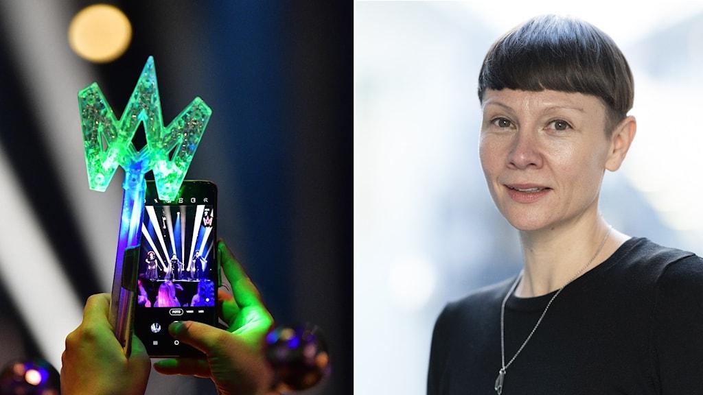Karin Gunnarsson är tävlingsproducent för Melodifestivalen.