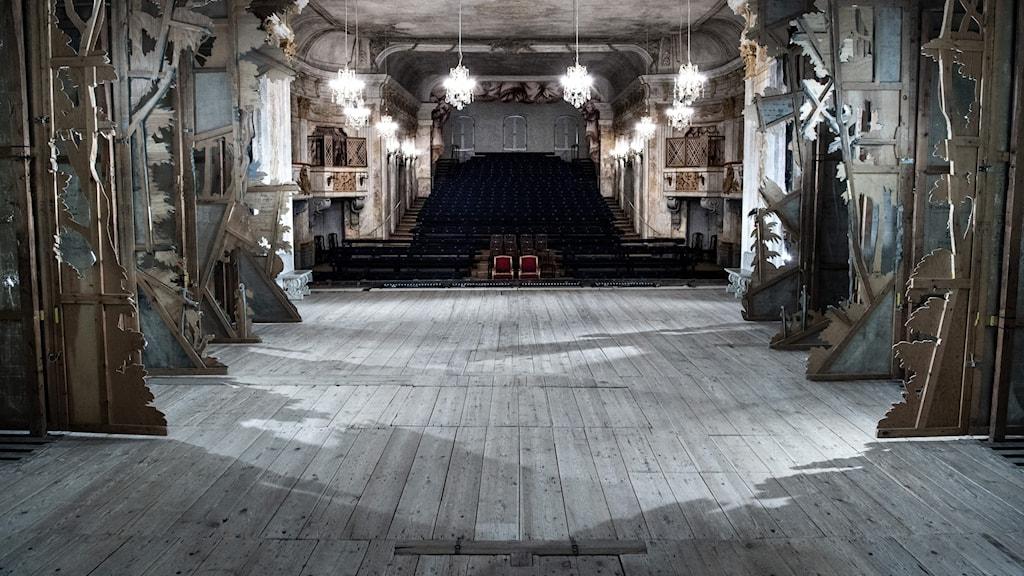 Från scenen på Drottningsholmsteatern.