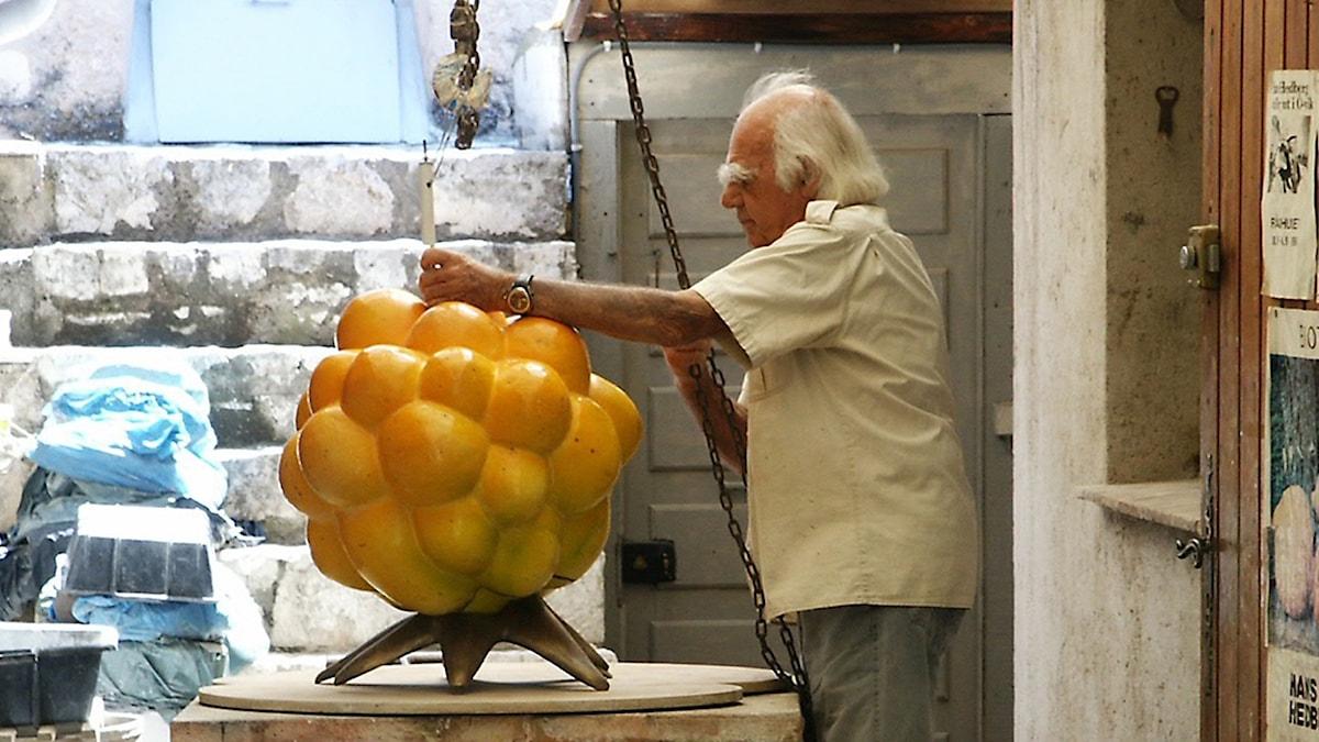 Hans Hedberg, keramiker. Foto: Ingegerd Grimell.