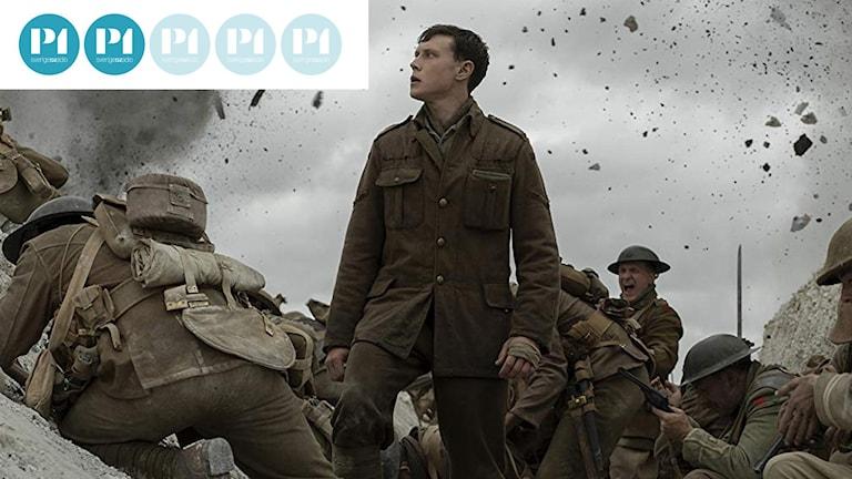 """Skådespelaren George MacKay i Sam Mendes 1:a världskrigsdrama """"1917""""."""