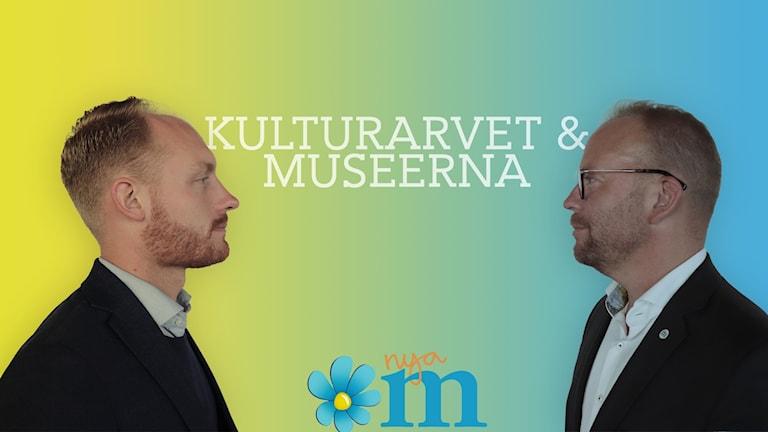 Aron Emilsson (SD) och Olof Lavesson (M) diskuterar kulturarv.