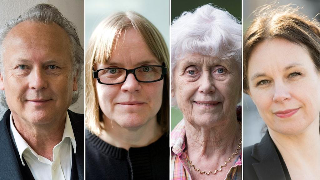 Klas Östergren, Lotta Lotass, Kerstin Ekman och Sara Stridsberg.
