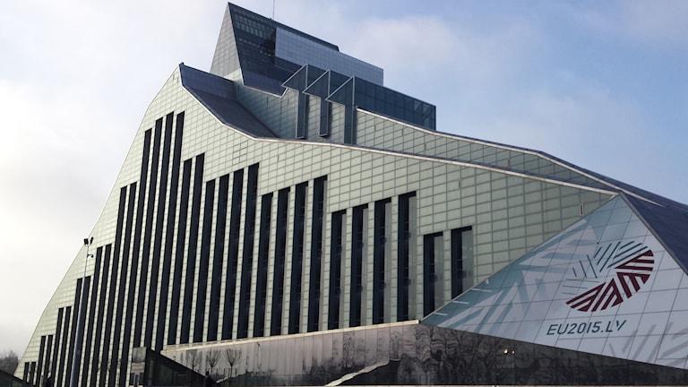 Gunnar Birkerts sista verk Lettlands nationalbibliotek i Riga.