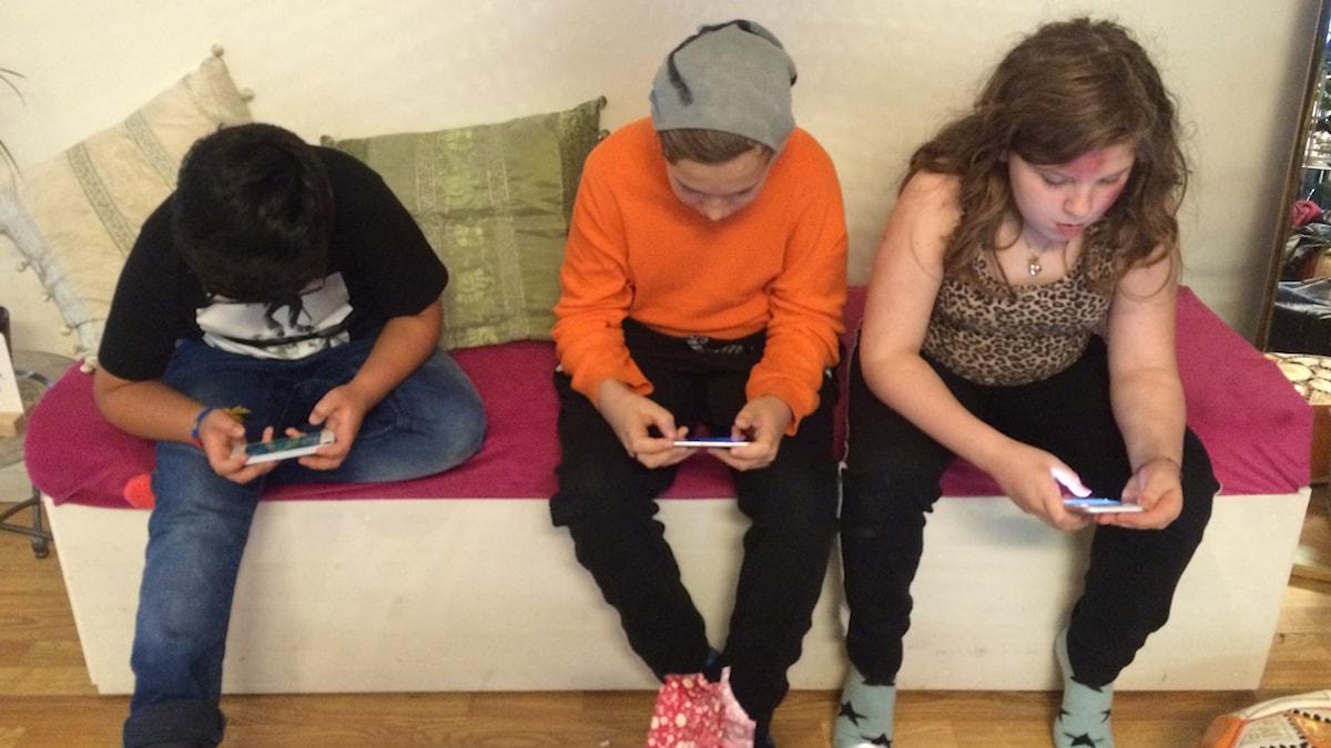 Xavier, Liam och Nelly.