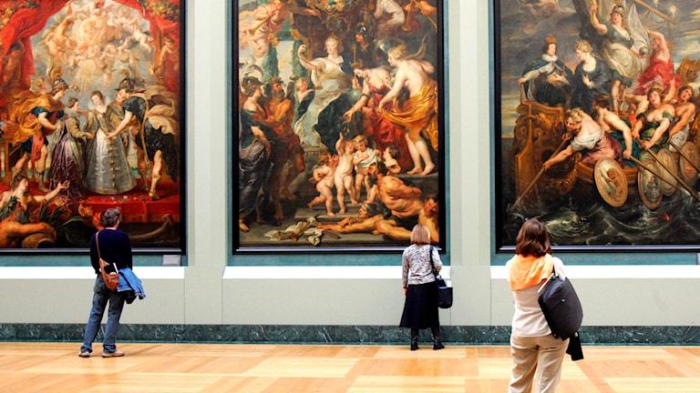 Verk av Nicolas Poussin på Louvren i Paris.