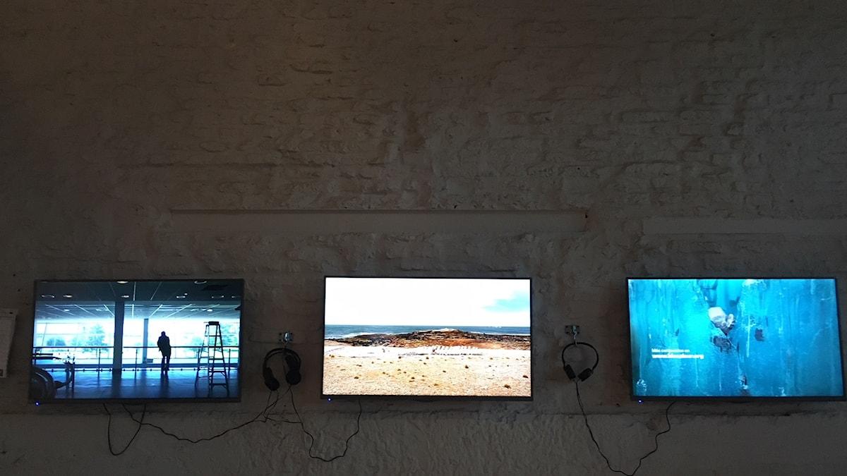 Videokonstverk på Bienalsur.