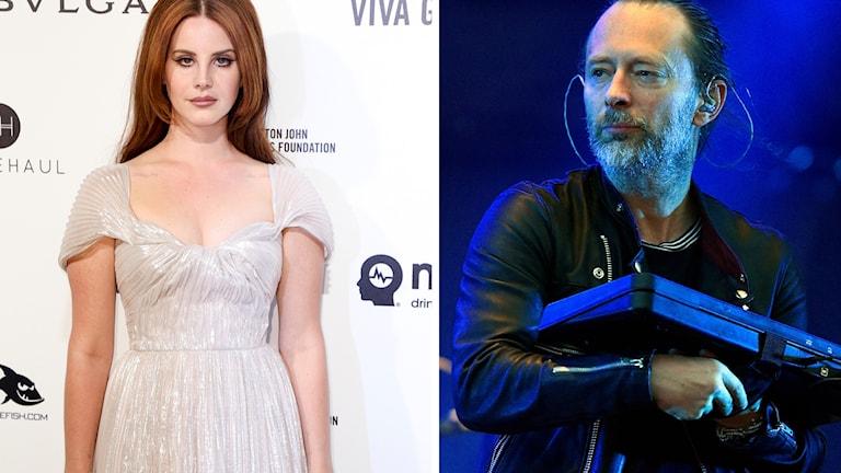 Lana del Rey och Thom Yorke från Radiohead.