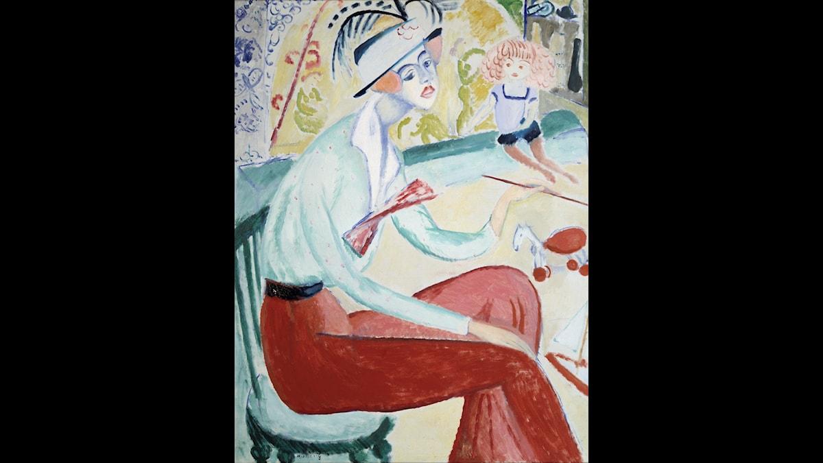 Självporträtt, Sigrid Hjertén 1914