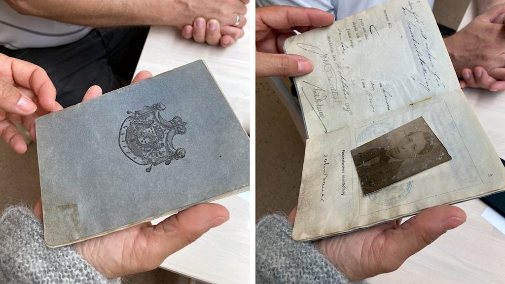 Två bilder på John Bauers sista pass.