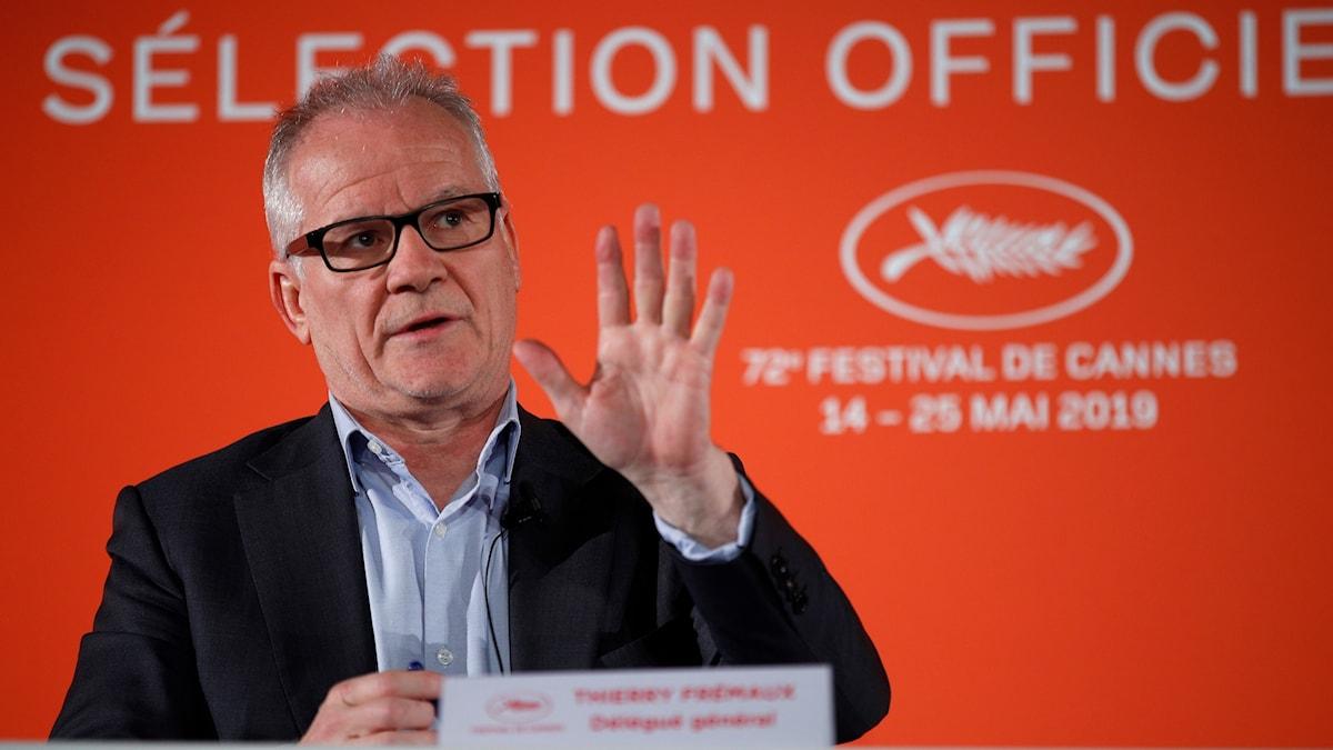 Årets Cannesfestival presenteras av festivalchef Thierry Fremaux.