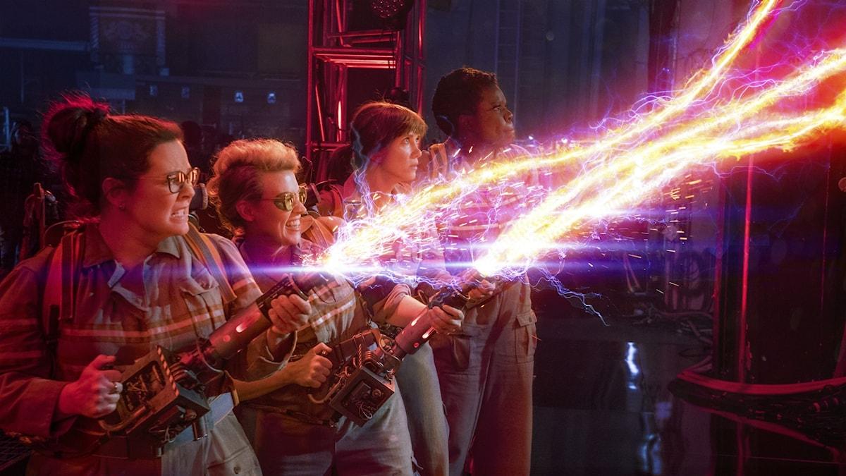 Huvudrollsinnehavarna i den nya Ghostbusters