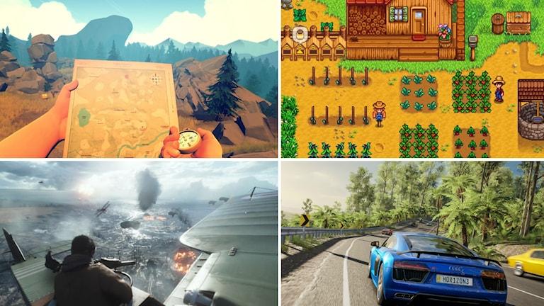 Firewatch, Stardew Valley, Battlefield 1 och Forza Horizon 3