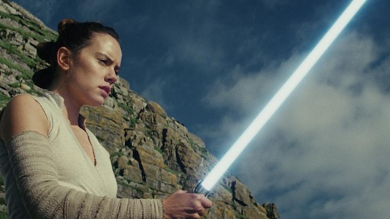 Daisy Ridley som Rey i Star Wars: The Last Jedi.