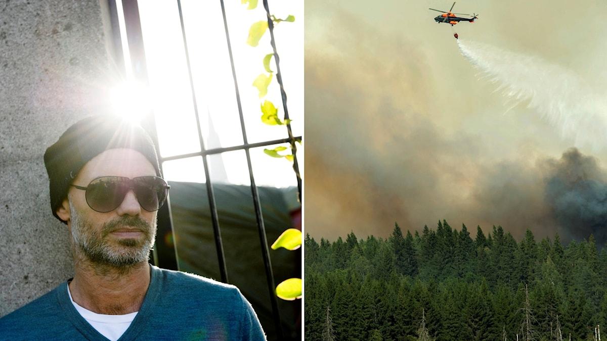 Niklas Hjulström ska regissera en teaterföreställning om skogsbranden i Västmanland 2014.
